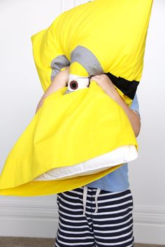 Best Sewing Projects to Make For Boys - Minion Pillowcase - Creative Sewing Tutorials for Baby Kids and Teens - Free Patterns and Step by Step Tutorials for Jackets, Jeans, Shirts, Pants, Hats, Backpacks and Bags - Easy DIY Projects and Quick Crafts Ideas http://diyjoy.com/cute-sewing-projects-for-boys