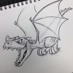 #dragon #breaksketch #brushpen #cartoon