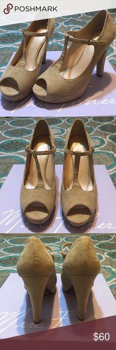 Marc Fisher heels Suede. Nude. Light natural color. Comfy. Marc Fisher Shoes Heels