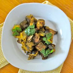 Indian-Style Curried Eggplant in the Slow Cooker | Veggie Wonder #meatlessmonday