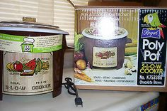 Find 5, Hard To Find, Crock Pot Slow Cooker, Crockpot, Cookers, Coffee Cans, Canning, Ebay, Vintage