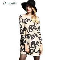 Who else wants to know how celebrities Original Price US $24.69 Discount 15% Donnalla Woman Autumn Letter Print Sweater 2017 New Female O Neck Long Sleeve Knitting Pullover Femme Chemise De Tricot Sweaters? #pullovers_sweaters
