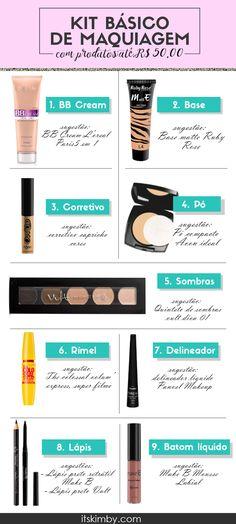 Make up tips. Makeup Tips Face powder . Makeup Dupes, Glam Makeup, Beauty Makeup, Beauty Dupes, How To Make Hair, Make Up, Basic Makeup Kit, Bb Cream, Makeup Tumblr