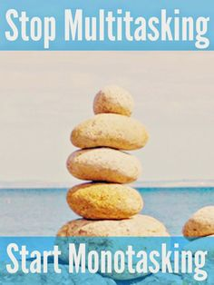 Stop multitasking and start monotasking. Monotasking takes inspiration from the current Minimalism movement. Prioritise, discard the unnecessary and focus on what's important. Deep Cleaning Checklist, Cleaning Hacks, Super Mum, Time Management Tips, Mom Advice, Natural Cleaning Products, Health And Beauty Tips, Picky Eaters, Get Healthy