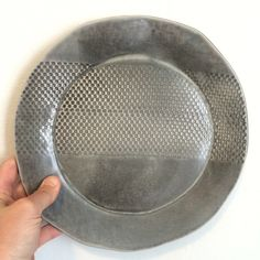 Textured serving/dinner plate – mud + stone Dinner Plates, Mud, Dinnerware, Texture, Stone, Dinner Ware, Surface Finish, Rock, Tableware