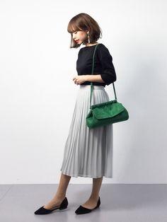 erikoさんの「[手洗い可能] CR Cフライス BN 5SL PO カットソー(green label relaxing)」を使ったコーディネート