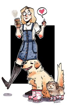 mood today is dogs in boots Female Character Design, Character Art, Character Illustration, Illustration Art, Art Inspo, Character Inspiration, Youtubers, Fashion Art, Cool Art