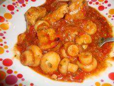 Tocanita din carne de porc cu ingrediente putine -Bucataria cu noroc Shrimp, Meat, Pork