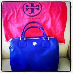 my cobalt blue tory burch bag :)