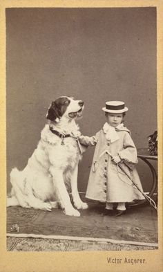 Archduchess Marie Valerie of Austria, daughter of Emperor Franz Joseph and Empress Elisabeth, with her dog ca. 1870