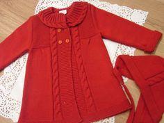 Paz Rodriguez Baby Girls Pink Pram Coat and Bonnet Knitting For Kids, Baby Knitting Patterns, Crochet For Kids, Baby Coat, Beige Coat, Knitted Coat, Kids Coats, Leggings Are Not Pants, Baby Wearing