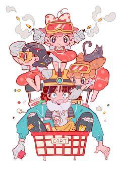 Embedded image permalink Arte Do Kawaii, Kawaii Art, Character Concept, Character Art, Concept Art, Pretty Art, Cute Art, Anime Kunst, Anime Art