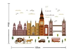 Foreign Trade Wall Big Ben In London Architecture Series Wall Stickers  Household Adornment Wall