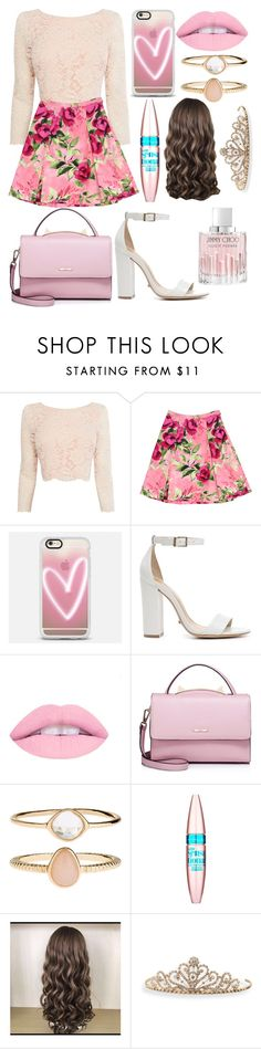 """Floral Skirt"" by kirsty-mckenzie44 ❤ liked on Polyvore featuring Coast, Love Moschino, Casetify, Schutz, WithChic, Accessorize, Maybelline, BillyTheTree and Jimmy Choo"