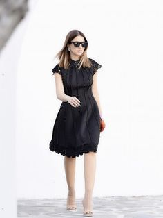 Feel the love in a black dress from Manolo Fashion