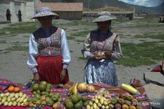 Fruit Venders In Small Village Near Arequipa