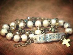 Ann Wrap Bracelet - Turquoise Beads/Dark Leather - B-AWT201 - Johnny Loves June