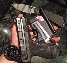 EDC w/Smith & Wesson M&P Shield and Suunto Core watch