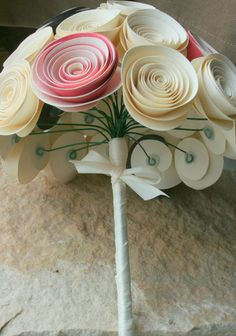 paper flower bridal bouquet - view from inside ... would like to try to make these for home decorating (allergy free flowers)