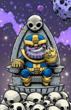Thanos by Skottie Young Marvel Baby, Chibi Marvel, Baby Avengers, Marvel Cartoons, Marvel Dc Comics, Marvel Heroes, Marvel Avengers, Thanos Marvel, Chibi Characters