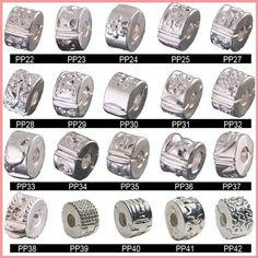 DUMAN 20pcs Silver Clasp Spacer Stopper charms Fit Pandora Chamilia Style Bracelet & Necklace PP20-2