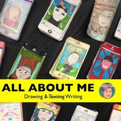 """All About Me """"selfie"""" drawing and writing activity for classroom teachers and art teachers. This all about me product is a TpT teacher favorite!"""