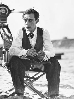 One of my new favourite photos of Buster Keaton.