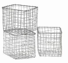 Set 4 cestas de almacenamiento :: Tiendas de decoracion | Decoracion rustica | Decoración online