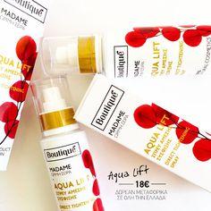 Αναζωογονητική Λοσιόν Προσώπου σε σπρέυ με συμπυκνωμένα αντιγηραντικά συστατικά, σε ελαφριά μορφή, για άμεσο αποτέλεσμα ανανέωσης και σύσφιξης!! Aqua Lift 100ml 18€ Δωρεάν Μεταφορικά Σε όλη την Ελλάδα #boutiqueshopgr #boutiqueshop #eshop #shoponline #aqualift #directtightening #spray #facespray Drink Bottles, Vitamins, Aqua, Water Bottle, Cosmetics, Drinks, Drinking, Water, Beverages