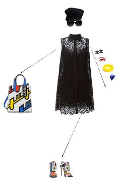 """""""Funky Lace"""" by christine-sacco ❤ liked on Polyvore featuring Chanel, Dsquared2, Dolce&Gabbana, Kenzo, Areaware and Marc by Marc Jacobs"""