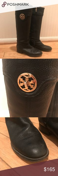 Tory Burch Boots Leather Tory Burch knee high boots. Preowned and lightly worn but in good condition. There are a couple scuffs on the front of the boot but none that take away from its beauty. They are in great condition! I just never wear them so I want someone who will to have them in their closet! Tory Burch Shoes Heeled Boots