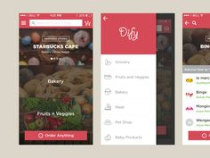 Local Food Ordering App from http://bit.ly/1J5W6KtUXplore UX-UI Design inspiration gallery from the web - Editor Francesco Balducci