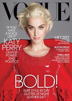 Katy Perry na capa da revista Vogue Americana