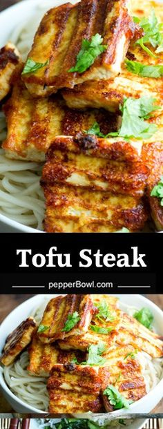 Tofu Steak recipe, Grilled is a tasty and healthy appetizer. Its crisp outside and soft and creamy inside. A great dish for meatless days. Veg Recipes, Steak Recipes, Asian Recipes, Vegetarian Recipes, Cooking Recipes, Healthy Recipes, Vegan Steak Recipe, Grilled Tofu Recipes, Healthy Dinners