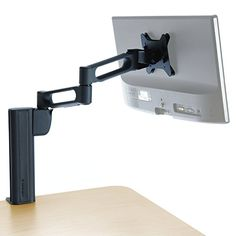 Raise your #productivity to new levels.  Attach your monitor to the Column Mount Extended Monitor Arm and you´re ready to enjoy the reduced eye and #neck strain a...