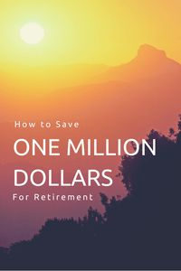 How to save one million dollars