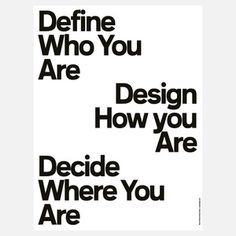 Define Who You Are from The Five-Minute Poster Series by BaseDesign, $21, now featured on Fab.
