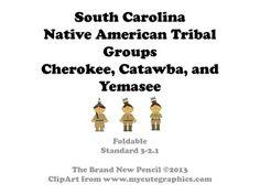 South Carolina - Native Americans of SC Complete Set 3-2.1 ...