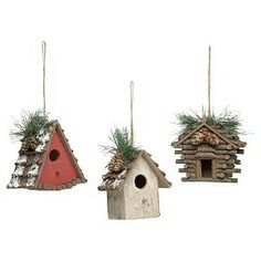 birdhouse ornaments christmas | Birdhouse Ornaments