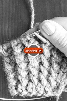 Pretty stitch tutorial Herringbone Stitch Knitting, Herringbone Stitch Tutorial, Cable Knitting, Baby Knitting Patterns, Baby Hats Knitting, Knitting For Kids, Beginning Crochet, Free Crochet Bag, Knit Headband Pattern