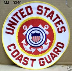 United States Coast Guard Embroidered Back Patch