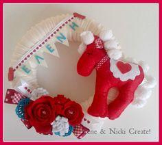 Felt Wreath, Dinosaur Stuffed Animal, Wreaths, Christmas Ornaments, Toys, Holiday Decor, Irene, Crafts, Design
