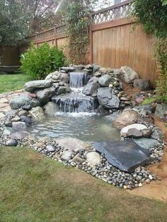 Awesome Backyard Ponds Ideas With Waterfalls 41 Waterfalls backyard, Ponds backyard, Diy pond, Small Garden Pond Design, Landscape Design, Small Front Yard Landscaping, Landscaping Ideas, Garden Landscaping, Walkway Ideas, Mailbox Landscaping, Mulch Ideas, Diy Pond