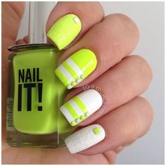 .@m_a_tom | #fridayfunnails  Nail It! Lime by @Stacey Schoonmaker Lindahl, Sinful Colors Snow me White a... | Webstagram