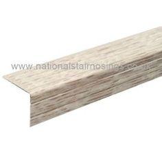 30x25mm Aluminium Stair Nosings Step Nose Edging For Laminate & Wood Flooring