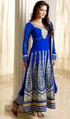 Best Sunny Leone's pics in salwar suit.