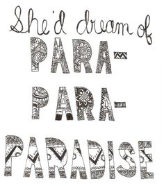 """Paradise"" lyrics, Coldplay"