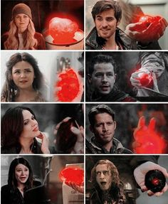 Rumple and Regina's hearts. It's quite telling. It kind of shocks me how close Regina's is to Rumple's. Rumple is more than 300 years old. 300 years of dark deeds. Regina is 67 years old. She started doing evil deeds at around 24. Yet, her heart looks like Rumple's. It's slightly better than Rumple's. But it's very similar. Interesting...