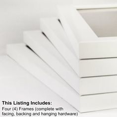 Amazon.com - Craig Frames 23247812 8 by 10-Inch Picture Frame 4-Piece Set, Smooth Finish, 1-Inch Wide, White -  16 x 20 set $53.99 $8.25 Shipping