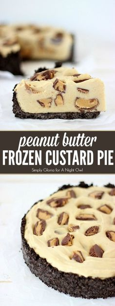 Peanut Butter Frozen Custard Pie